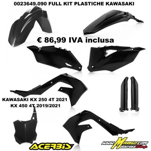 FULL KIT PLASTICHE KAWASAKI KX250 4T 2021  KX450 4T 2019/2021 NERO