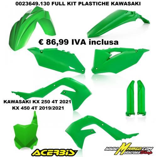 FULL KIT PLASTICHE KAWASAKI KX250 4T 2021  KX450 4T 2019/2021 VERDE
