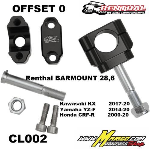CL002 OFFSET 0  Honda CRF-R2000 - 20 / Yamaha YZ-F2014 - 20 / Kawasaki KX 2017 - 20