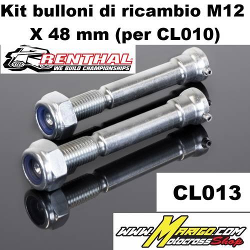 CL013   Kit bulloni di ricambio M12 X 48 mm (per CL010)