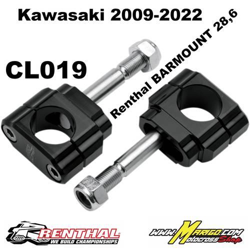 CL019  28.6mm Bar Mounts Kaw 2009-22