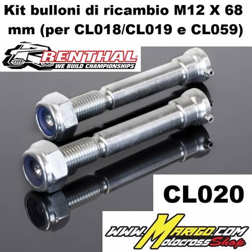 CL020    Kit bulloni di ricambio M12 X 68 mm (per CL018/CL019 e CL059)