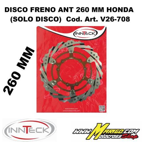 DISCO FRENO ANT. INNTECK  260 MM flottante (GAS GAS  / KTM / BETA / HUSQ)