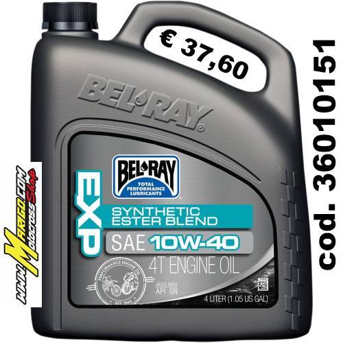 Bel-Ray EXP SEMI-SYNTHETIC ESTER BLEND 4-STROKE ENGINE OIL 10W-40