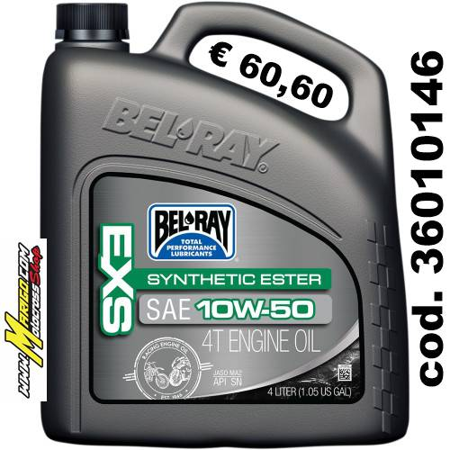 Bel-Ray EXS SYNTHETIC ESTER 4-STROKE ENGINE OIL 10W-50