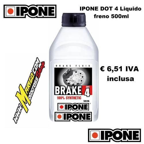 Olio Freni BRAKE DOT 4 Sintetico (500ml)