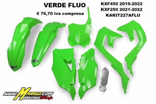 UFO Plast  -  Kawasaki KXF450 2019/2022  KXF250 2021/2022  KAKIT227