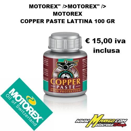 MOTOREX COPPER PASTE LATTINA 100 GR
