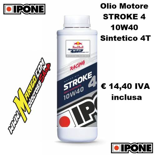 1- STROKE 4 10W40 Sintetico 4T (1lt)  Olio Motore