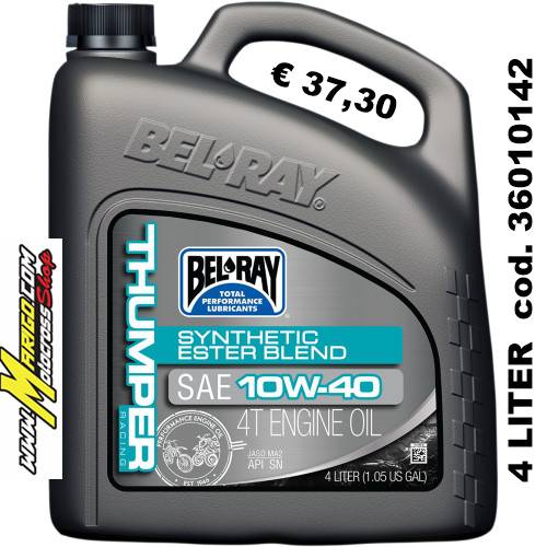 Bel-Ray THUMPER RACING SYNTHETIC ESTER BLEND 4-STROKE ENGINE OIL 10W-40